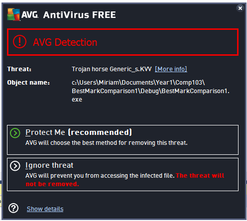 avg detection