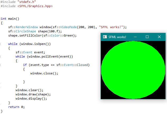 SFML works code